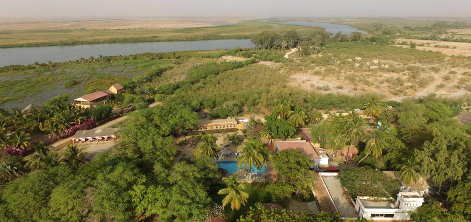 le Ranch de Bango au bord du Lampsar, un bras du fleuve Sénégal